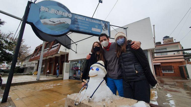FOTO: Nieve en Carlos Paz