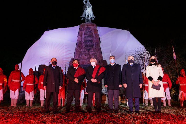 FOTO: Alberto Fernández en el homenaje al general Güemes en Salta