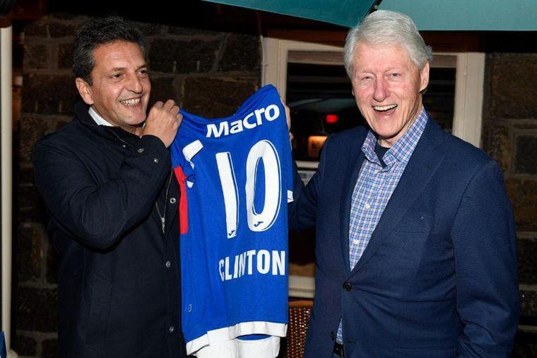 FOTO: Massa cenó con Bill Clinton en EE.UU.: de qué hablaron