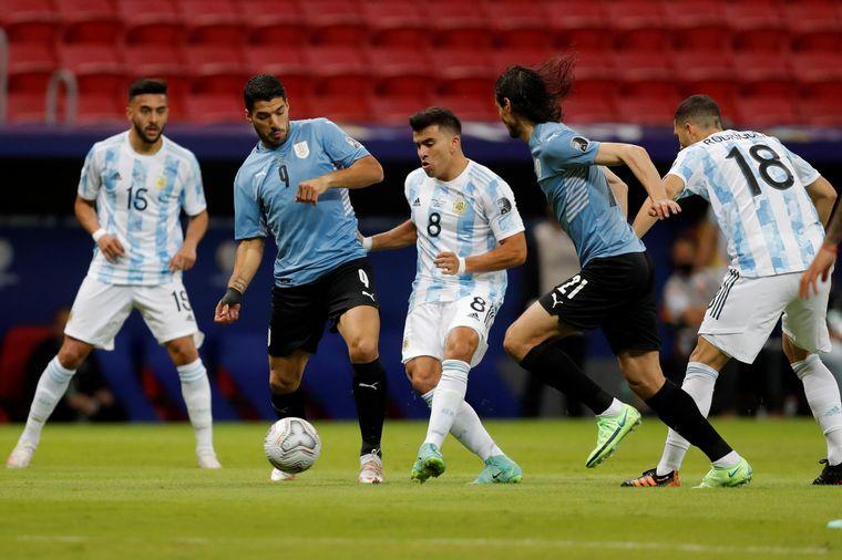 FOTO: Guido Rodríguez marcó el 1 a 0 para Argentina.
