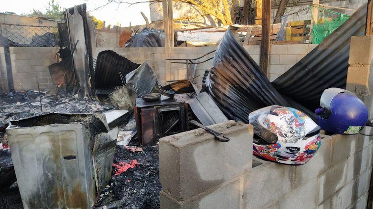 AUDIO: Pérdidas totales por el incendio al que acudía el autobomba