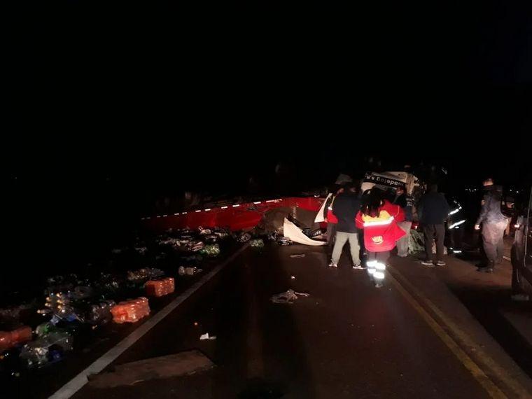 FOTO: El siniestro se registró en la ruta 3, al norte de Chubut (Fotos: ADN Sur).