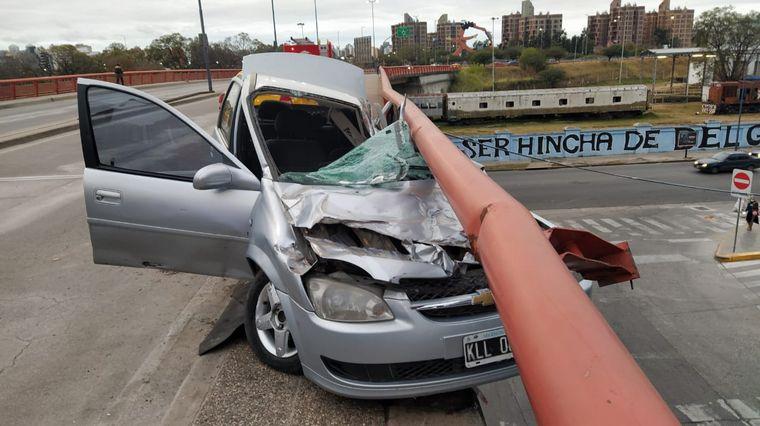 AUDIO: Impactante accidente en el Hombre Urbano: no hay heridos