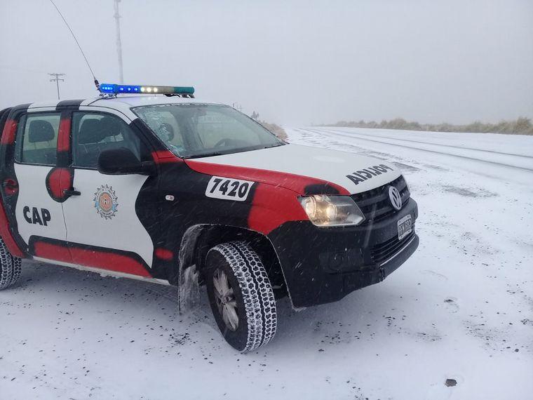 FOTO: Tras la nevada, habilitaron el camino de las Altas Cumbres