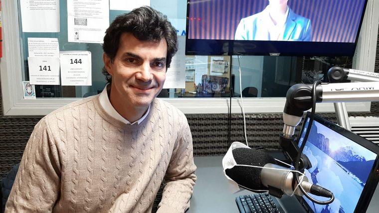 FOTO: El dirigente salteño, Juan Manuel Urtubey, en el estudio de Cadena 3.
