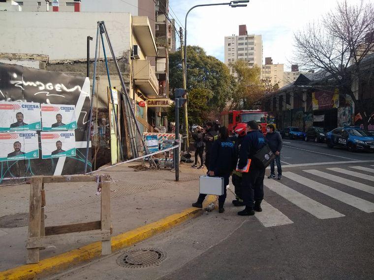 FOTO: Tres heridos tras derrumbe en una obra en Buenos Aires