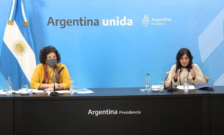 FOTO: Vizzotti y Ibarra brindaron detalles del DNU que permite acceder a más vacunas.