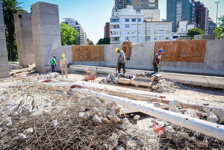 FOTO: Obras en la Plaza España.