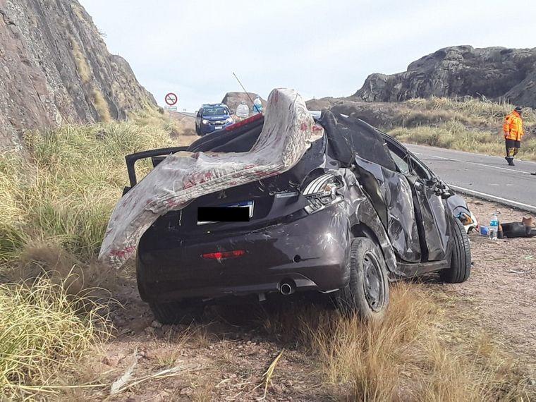 FOTO: Cuatro sanjuaninos heridos en un accidente en las Altas Cumbres