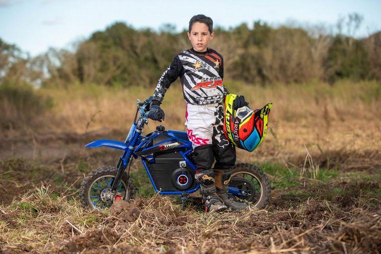 FOTO: Tiene 10 años y debutará en el Superbike Argentino