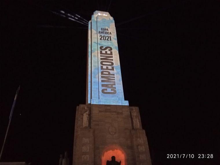 FOTO: Argentina Campeón de la Copa América: festejos en Rosario