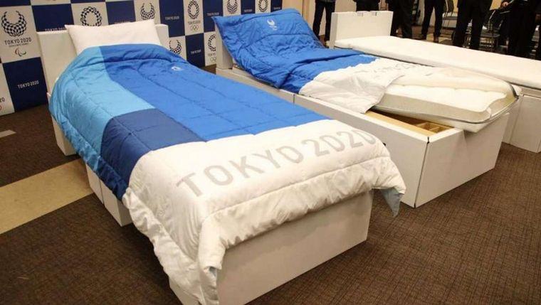 FOTO: Así son las camas de cartón que están en la Villa Olímpica.