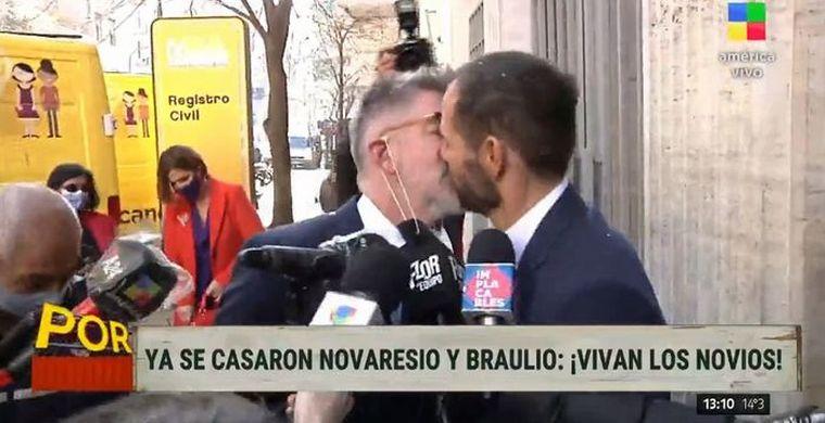 FOTO: Luis Novaresio se casó este jueves con Braulio Bauab
