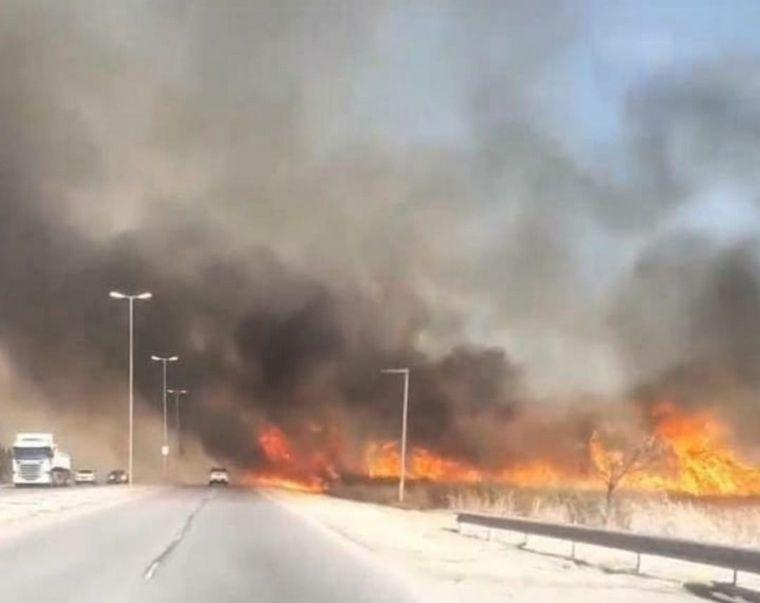 FOTO: Incendio en Alta Gracia
