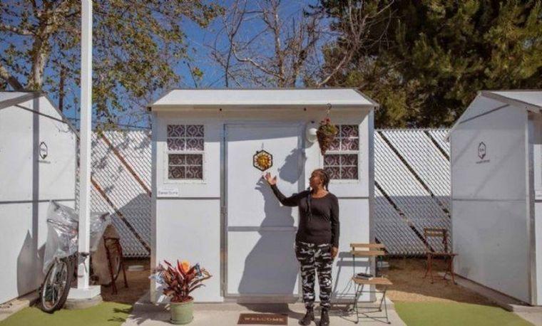 FOTO: Cómo son las casas de 6 m2 para personas sin hogar