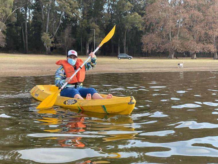AUDIO: Un tranquilo paseo en kayak en Embalse de Calamuchita