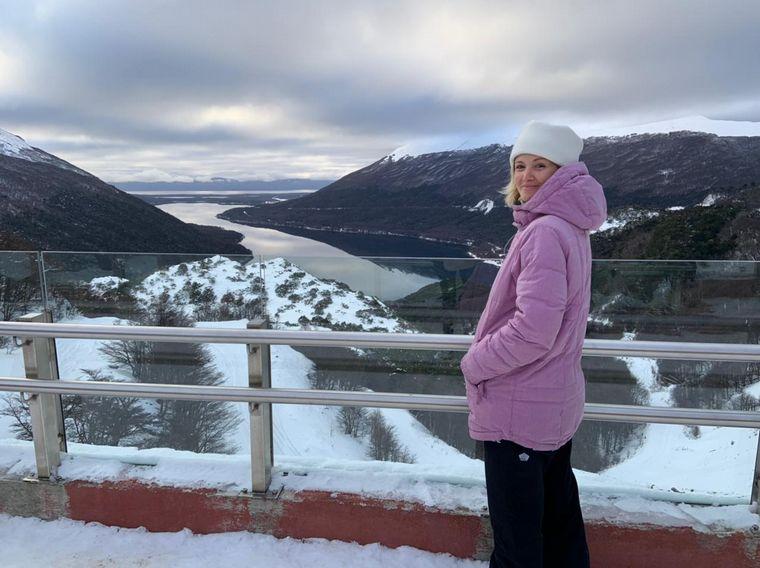 FOTO: Mica Rodríguez se animó a la travesía 4x4 por los lagos