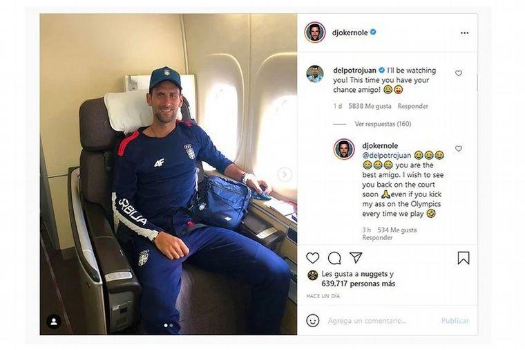 FOTO: Djokovic y Del Potro se chicanearon por redes sociales