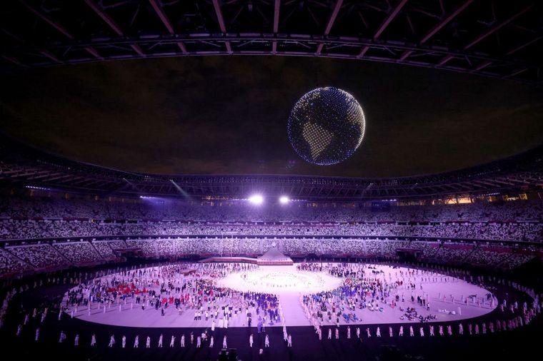 FOTO: Atípica ceremonia inaugural de los Juegos Olímpicos por la pandemia.