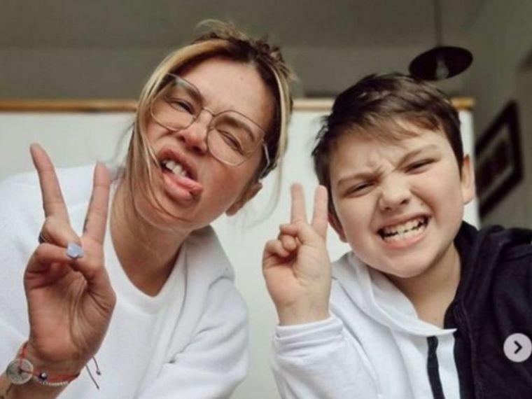 FOTO: Nazarena Vélez y su hijo Thiago