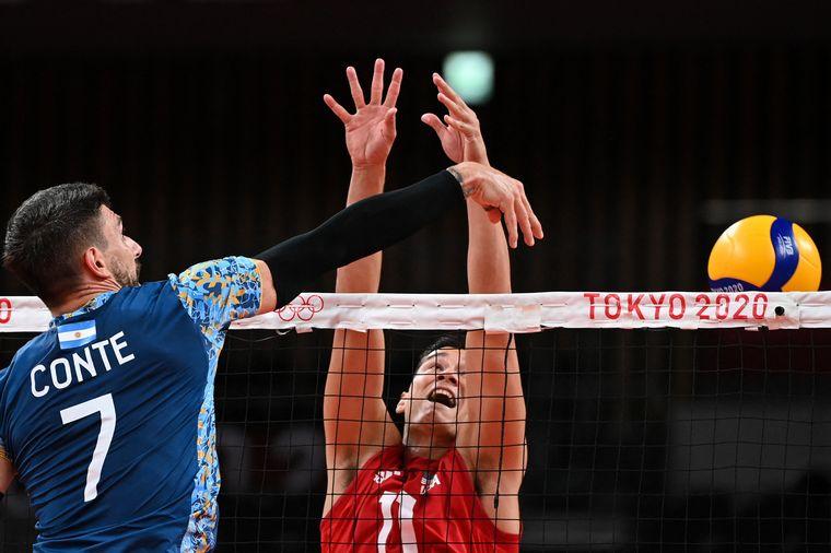 FOTO: Argentina superó a Estados Unidos en voley y está en cuartos de Tokio 2020.