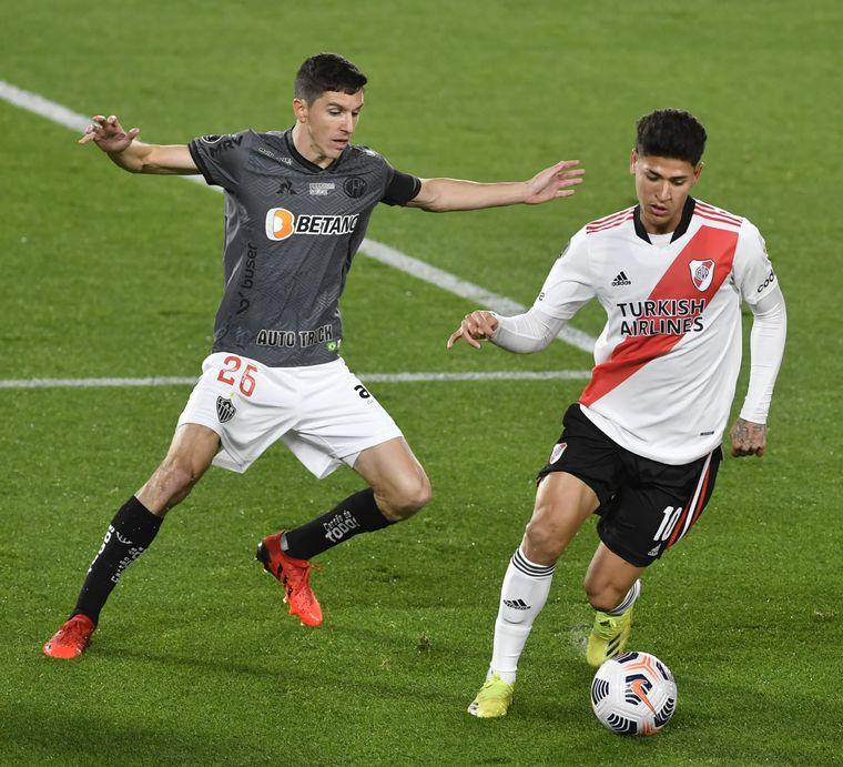 AUDIO: 1º gol de Atlético Mineiro (Fernández)