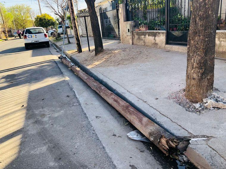 AUDIO: Evoluciona favorablemente la mujer herida por un poste en barrio Ituzaingó