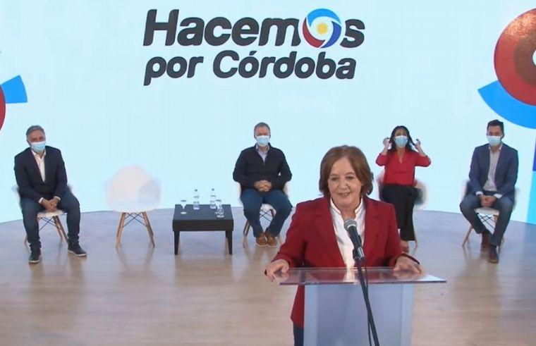 FOTO: Imagen del acto virtual de Hacemos por Córdoba.