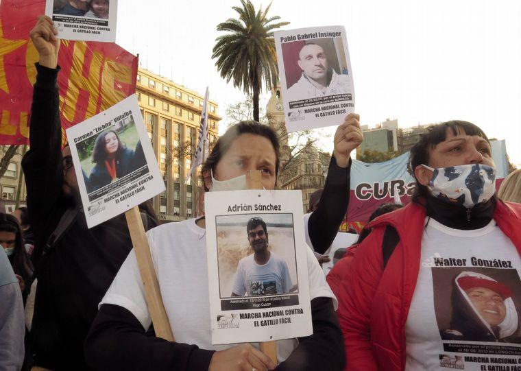 FOTO: La movilización fue en el marco de la 7º Marcha Nacional Contra el Gatillo Fácil