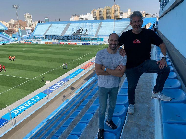FOTO: Matías Barzola y Juan Pablo Estela regresaron al Gigante para Belgrano-Chacarita.