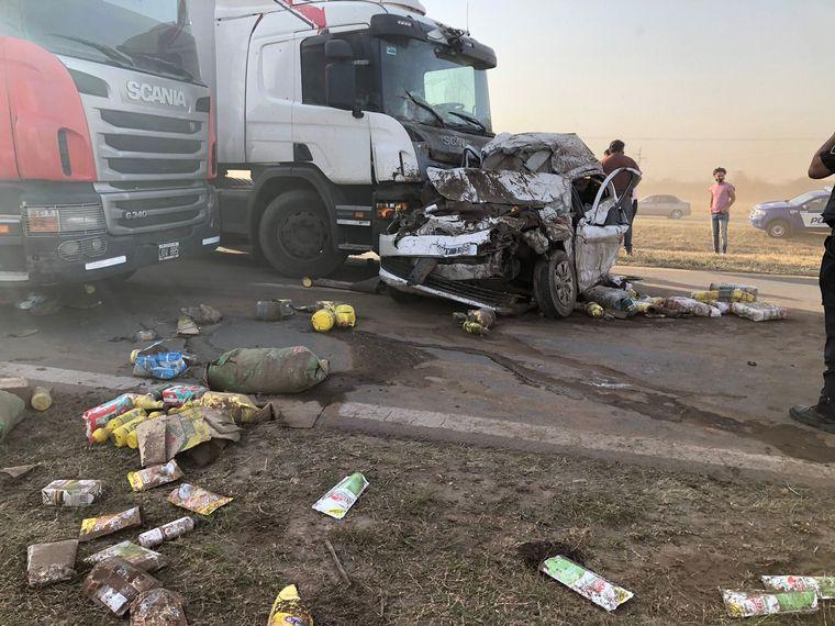 AUDIO: Impactante choque en cadena en la ruta 19 en Córdoba