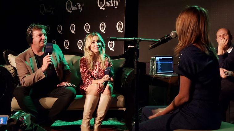 FOTO: Marcela Morelo cantó para Cadena 3 desde Quality Espacio