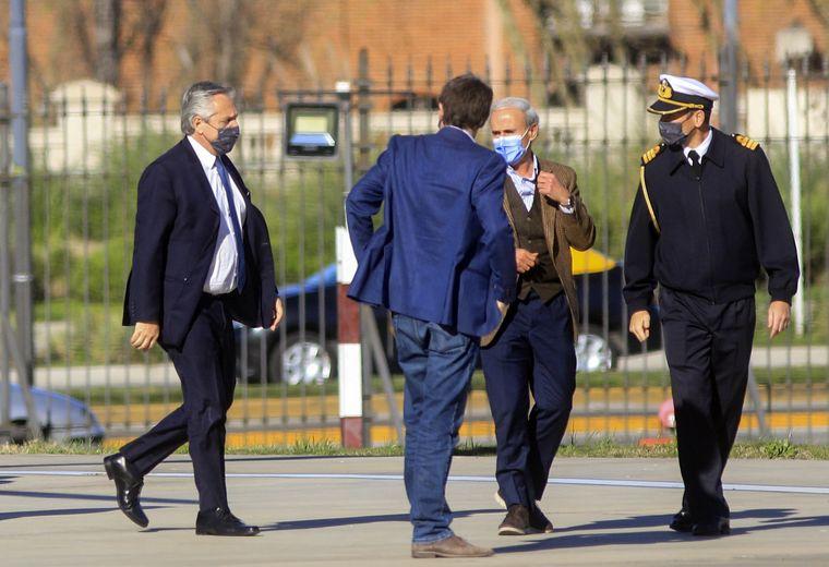 FOTO: Aníbal Fernández participó de la reunión en Casa Rosada.