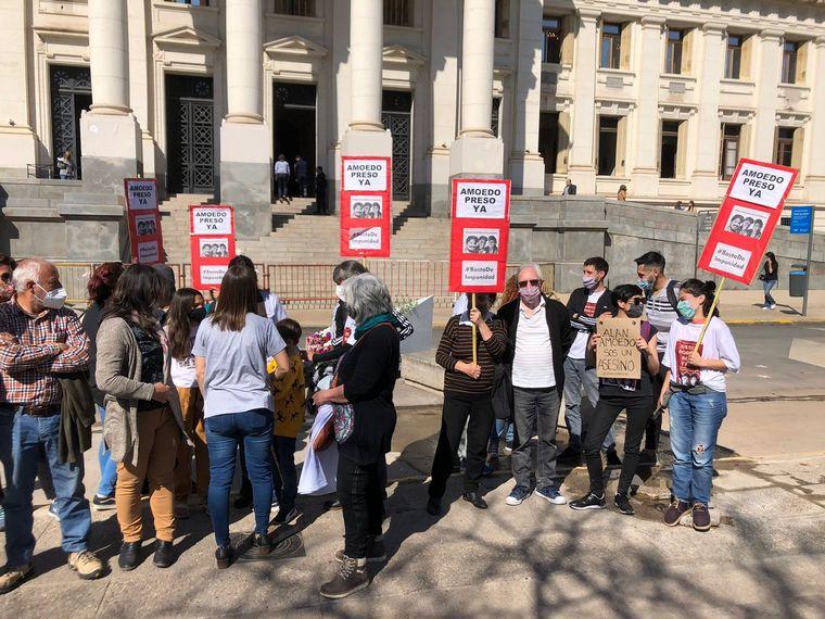AUDIO: Se manifiestan en reclamo de la detención de Alan Amoedo