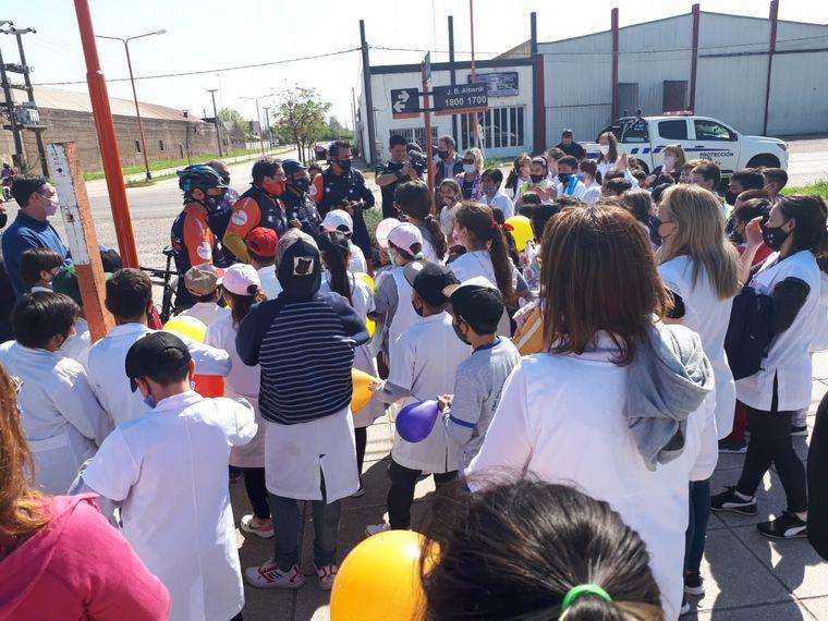 FOTO: El Cruce por la Educación llegó a Rosario.