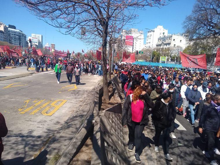 FOTO: Una nueva jornada de protesta ocasionó caos en CABA.