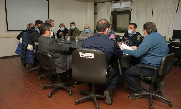 FOTO: Reunión en el Cosedepro por la seguridad en los partidos.