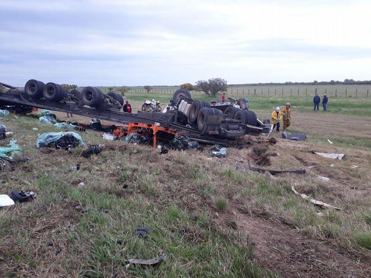 AUDIO: Murió un camionero en un impactante choque en Santa Fe