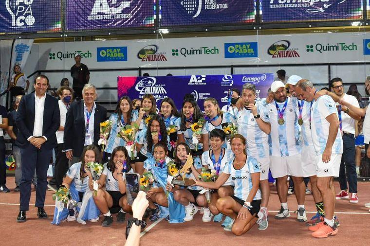 FOTO: Argentina ganó el mundial de pádel de menores