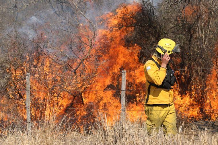 FOTO: El incendio en el norte cordobés se cobró su tercera víctima fatal
