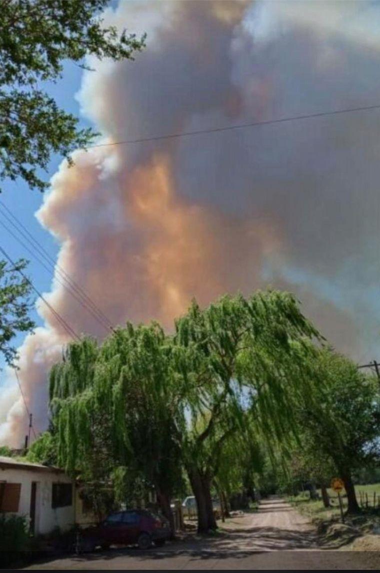 FOTO: Las llamas afectan al norte cordobés.