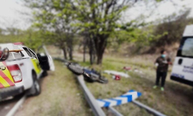 FOTO: La mujer volcó en Monte Maíz y falleció (Foto: Puntal)