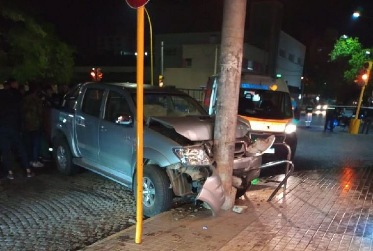 FOTO: Se salvó de milagro de ser embestido por una camioneta (Foto: La Voz de San Justo).