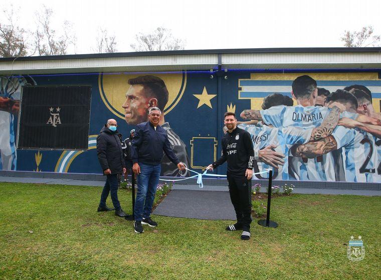 FOTO: El mural que homenajea a los campeones de América.
