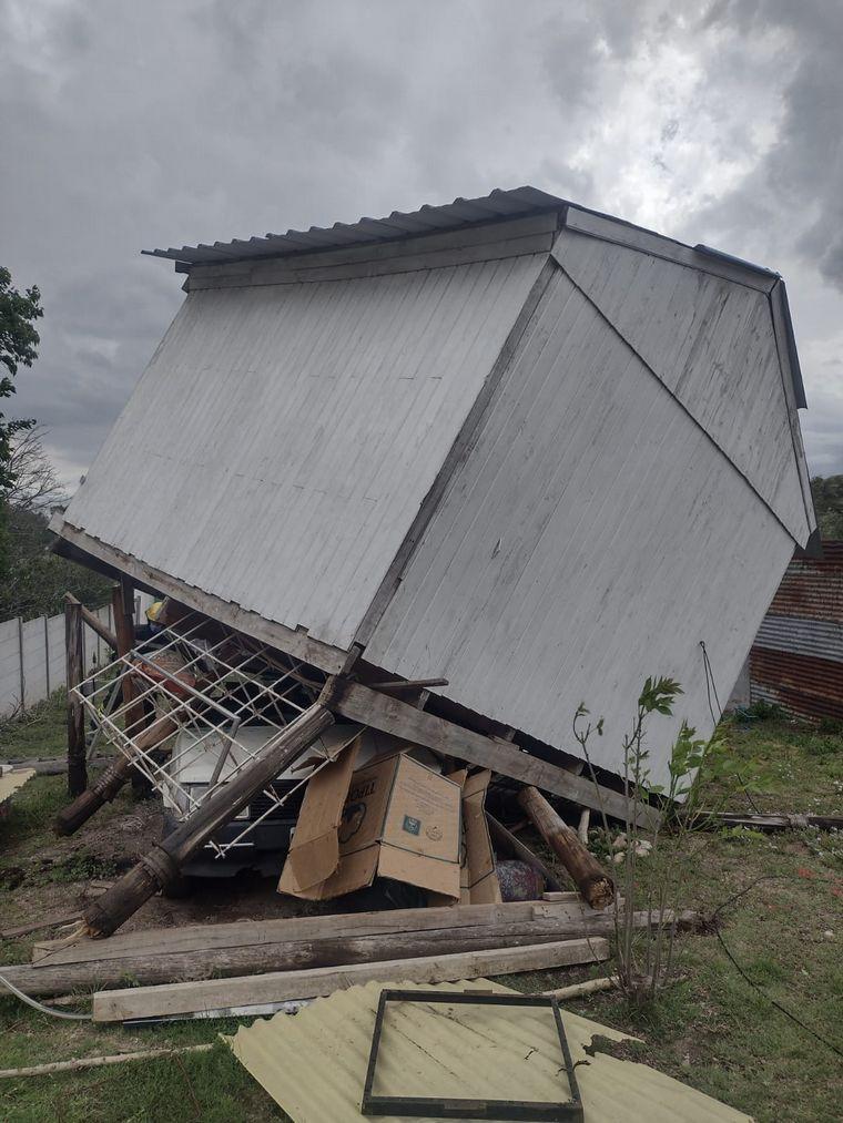 AUDIO: El viento provocó caídas de árboles en Cosquín
